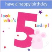 Who's 5 Birthday Card